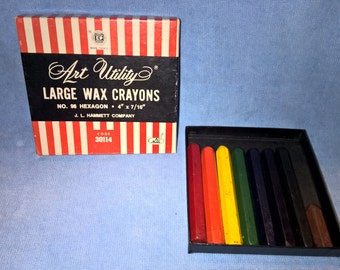 Box of J.L Hammett Co Large Wax Crayons
