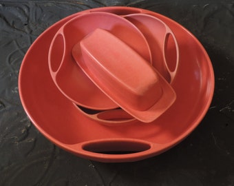 "Mid Century Branchell Melmac Serving Set Branchell's ""Royale"" Line  Vintage 1954 Kaye LaMoyne Design"