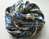 Sari Silk, Vintage Rain Mix, Fair Trade, 5 Yards, OOAK Limited, Silk Canvas Series, Textile, Yarn, Ribbon, Silk Ribbon, Artwear Elements 125