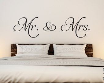 Mr. and Mrs. Vinyl Bedroom Wall Decal