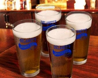 Personalized Pub Glass Set - 783 - Personalized Bar Glasses - Personalized Pint Glass Set
