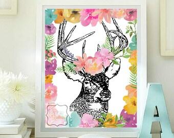 Deer head pritable