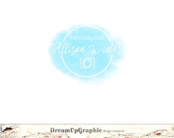 Photographer Logo Watercolor Custom Logo Design Premade Logo and Watermark for Photographers  Small Crafty Businesses Logo Design Des.: N003