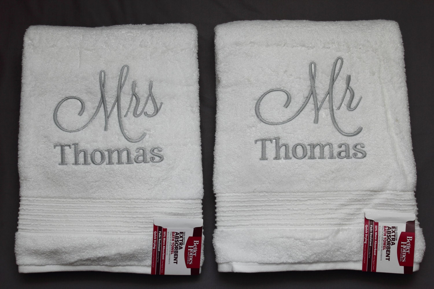 Mr and mrs towels embroidered bath towels custom made for Mr and mrs spa