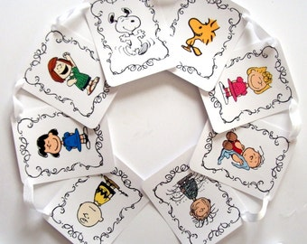 Peanuts Gang Banner, Birthday Party, Baby Shower, Charlie Brown, Snoopy