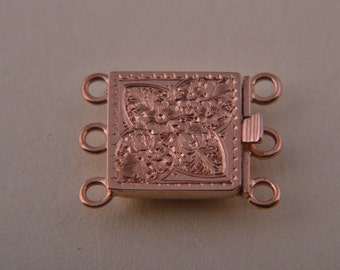 9ct Rose Gold Victorian Clasp With Engraving (367cc)