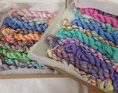 Silky Rainbow Selection Mini's Handdyed Sock Yarn
