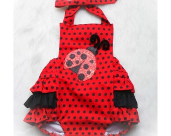 Lady Bug Romper
