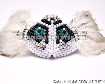 Feathered Owl Kandi Mask