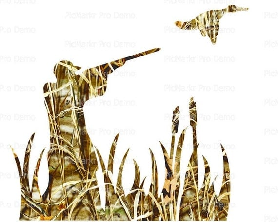 Camo Duck Hunting - Edible Cake and Cupcake Topper For Birthday's and Parties! - D21619