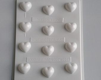 Bite Sized Heart - Hard Candy Mold V220