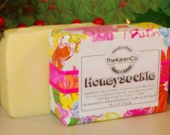 Honeysuckle Soap, Cold Process Soap, Vegan Soap
