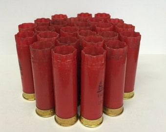 "Empty Shotgun Shells 25 Lot Red Winchester AA with Gold Base 2.75"" 12 Gauge"