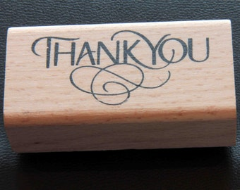 Thank You Vintage-style Stylised Rubber Stamp