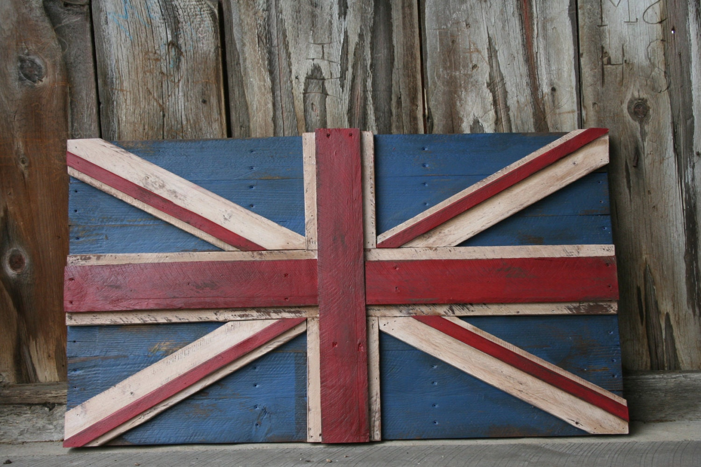british flag reclaimed repurposed pallet crate wood union