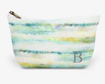 """Monogram  Make Up Bag, Cosmetic Case, Carrying Pouch, Accessory Pouch 12.5""""x8.5"""" or 8.5""""x6"""""""