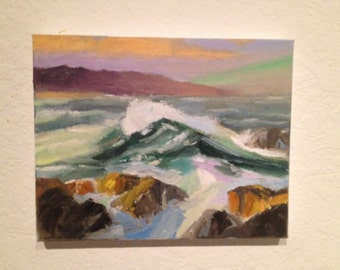 Surf on Rocky Shore