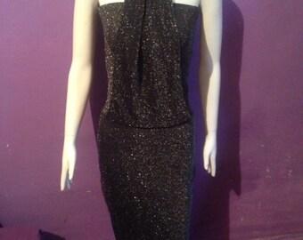 Black glitz dress