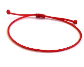 Red String Bracelet, Kabbalah Bracelet, Single string bracelet