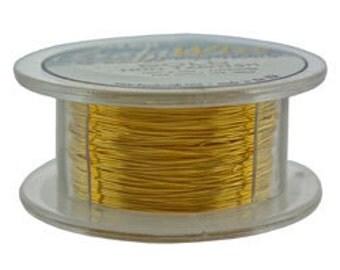 Craft Wire Tarnish Resistant Gold Round Wire 28ga 15yd (WR6728G)