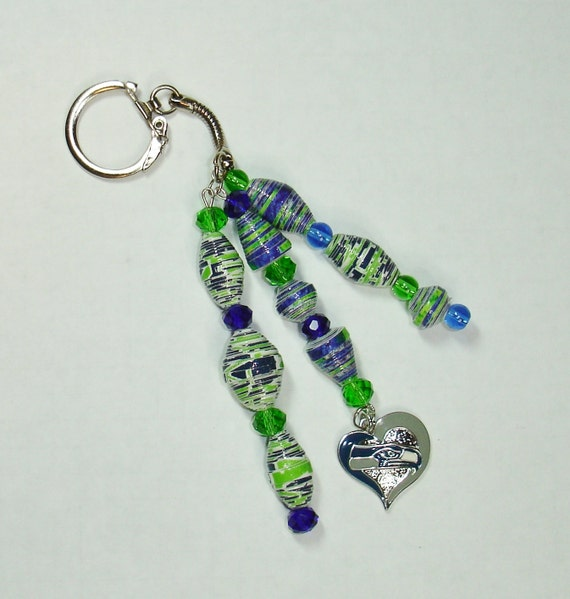 handmade jewelry seattle key chain car jewelry paper handmade seattle seahawks 9727