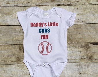 Chicago CUBS Fan Bodysuit - Daddy's/Mommy's/Grandpa's Cubs Fan Onesie - Customize name & color! Perfect baby shower, birth announcement gift
