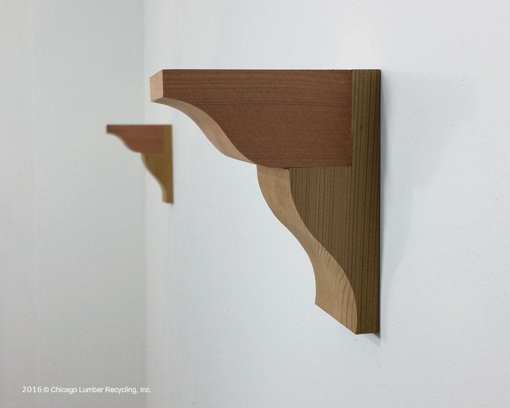 pair of wooden corbels shelf brackets kitchen counter top. Black Bedroom Furniture Sets. Home Design Ideas