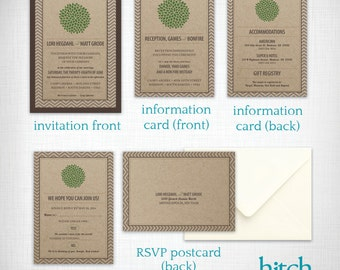 Wedding invitations: Lori + Matt