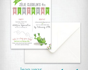 Birthday Party Invitation: Leap Year