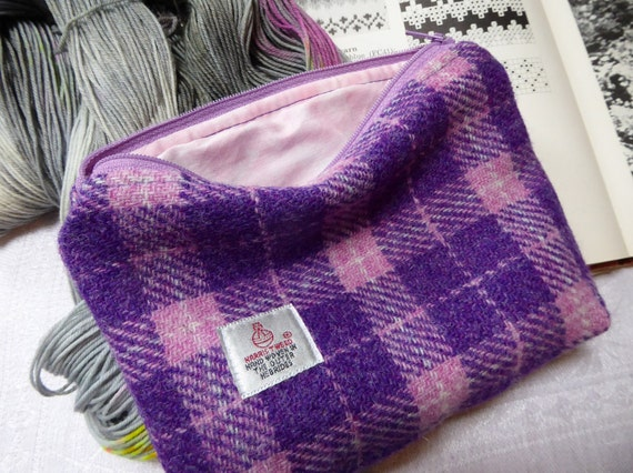 Knitting Accessories Bag : Knitting bag accessories in harris tweed from