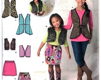 Simplicity Sewing Pattern 1786 Girls' Vest, Skirt  size:  3-4-5-6  Uncut