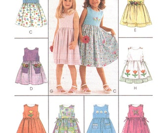 McCalls Sewing Pattern 2150 Girl's Dresses  Size:  CL  6-7-8  Uncut