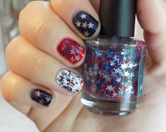 Country Must Be Country Wide - Patriotic 4th of July Handmade Nail Polish