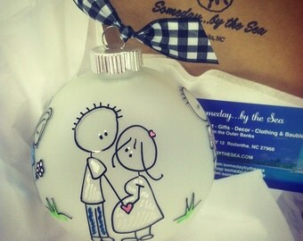 PARENTS of the BRIDE, Story Ornament, Just Married Keepsake Gift for Mom and Dad