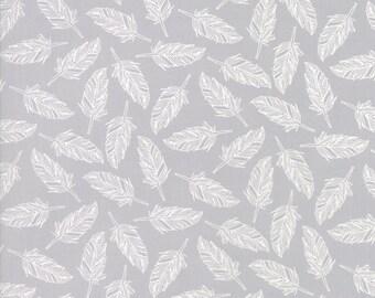 Studio M basics - grey whispers muslin mates - birds on grey