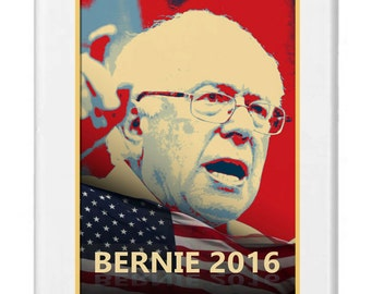 Apple IPhone Custom Case 4 4s 5 5S White Plastic Snap on - Bernie 2016 - Presidential Candidate Design IP4W - BERNIE - 0002
