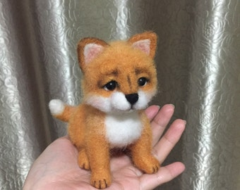 Made to Order - OOAK Needle Felted Fox Cub