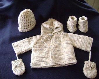 4 Piece Baby Sweater set