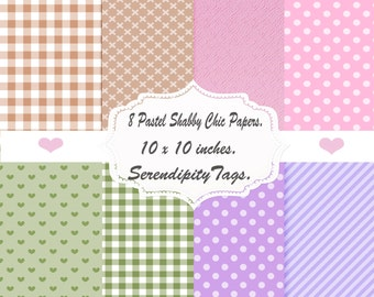 8 Lovely Shabby Chic Papers. (DOWNLOAD)