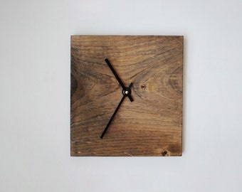 Reclaimed Wood Wall Clock- Walnut