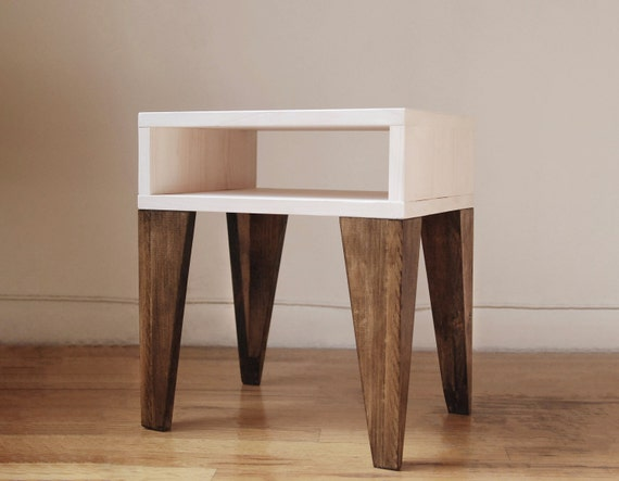 Angle Leg Nightstand Side Table End Table Antique By
