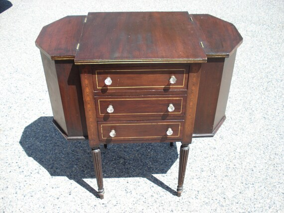 Sale - Sheraton Style Martha Washington Mahogany Sewing Cabinet, PICK UP  Boston ONLY