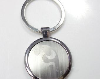 MLP Luna Keychain Key Chain Tag Engraved Silver Tone Metal KEN-0039