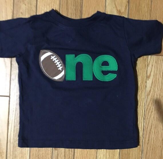 Boys 1st birthday shirt, One football shirt navy, 1st birthday footballl shirt, boys first birthday shirt, Sports birthday, touch down party