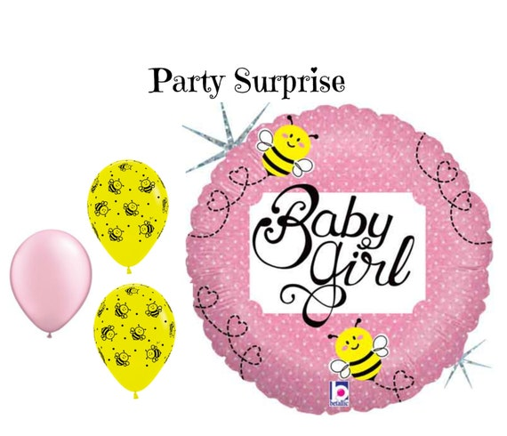 Baby Girl Bumblebee Shower Balloons New Bee Party From PartySurprise On Etsy Studio