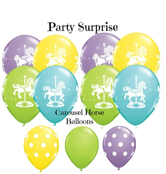 Carousel Horse Balloons 11 Latex Baby Shower 1st Birthday