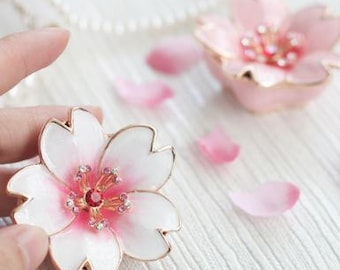Beautiful Cherry blossoms Jewelry Box,jewelry case,ring case-present,ring case,SAKURA,With a beautiful gift box