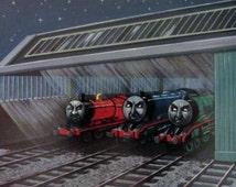 3 Thomas the tank engine books, Edward the blue Engine, Gordon the blue engine, 1950's children's train stories