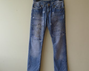 Christian Dior jeans distressed look size 28
