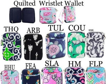 Quilted Wristlet Wallets